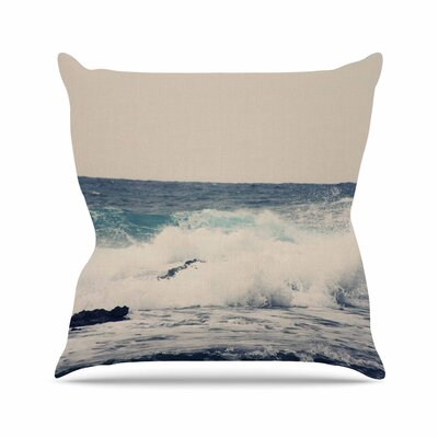 Sylvia Coomes Ocean 1 Coastal Outdoor Throw Pillow Size: 18 H x 18 W x 5 D