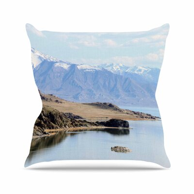 Sylvia Coomes Mountain Reflection Nature Outdoor Throw Pillow Size: 16 H x 16 W x 5 D