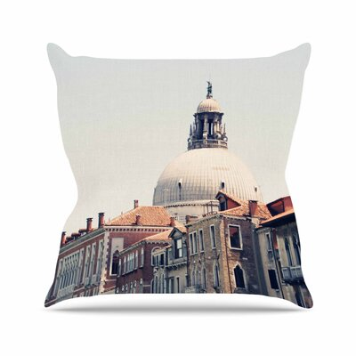 Sylvia Coomes Venice 5 Travel Vintage Outdoor Throw Pillow Size: 18