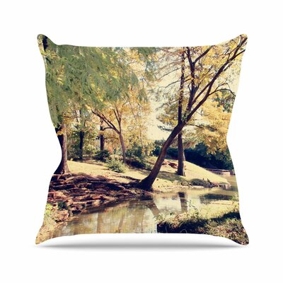Sylvia Coomes Walk in the Park Photography Outdoor Throw Pillow Size: 18