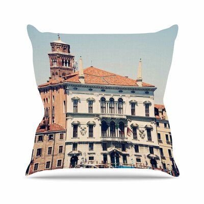 Sylvia Coomes Venice 6 Travel Coastal Outdoor Throw Pillow Size: 16