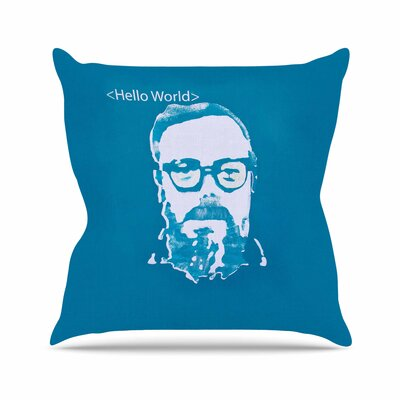Theresa Giolzetti Hello World Dennis Ritchie Outdoor Throw Pillow Size: 18 H x 18 W x 5 D