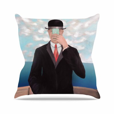 Theresa Giolzetti the Son of Apple Outdoor Throw Pillow Size: 18 H x 18 W x 5 D