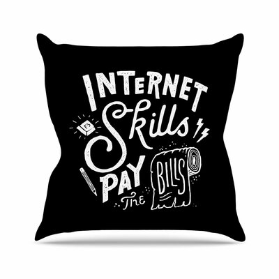 Tatak Waskitho Pay the Bills Typography Vintage Outdoor Throw Pillow Size: 16 H x 16 W x 5 D