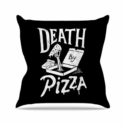 Tatak Waskitho Death By Pizza Food Outdoor Throw Pillow Size: 18 H x 18 W x 5 D