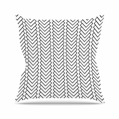 Trebam Kamara Chevron Outdoor Throw Pillow Size: 16 H x 16 W x 5 D