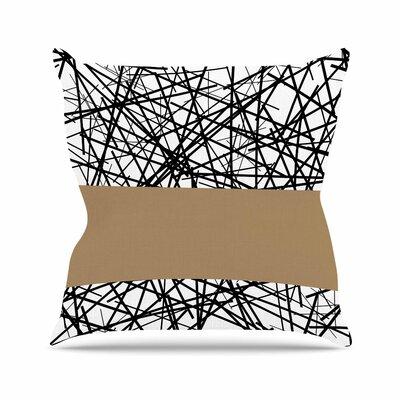 Trebam Kava Outdoor Throw Pillow Size: 16 H x 16 W x 5 D