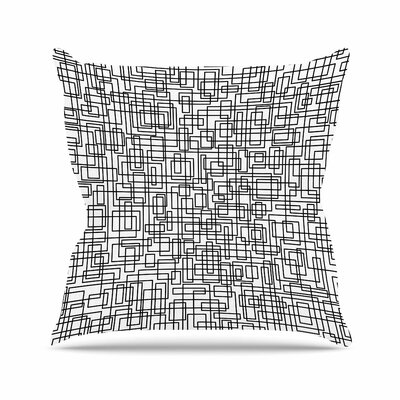 Trebam Komada Outdoor Throw Pillow Size: 18 H x 18 W x 5 D, Color: White