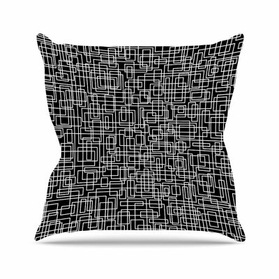 Trebam Komada Outdoor Throw Pillow Size: 18 H x 18 W x 5 D, Color: Black