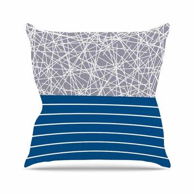 Trebam Odvojen Abstract Outdoor Throw Pillow Size: 16 H x 16 W x 5 D