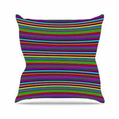 Trebam Kolor Stripes Outdoor Throw Pillow Size: 18 H x 18 W x 5 D
