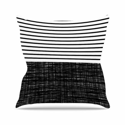Trebam Platno (with Stripes) Outdoor Throw Pillow Size: 18