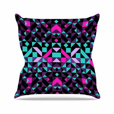 Vasare Nar Geometric Galaxy Digital Outdoor Throw Pillow Size: 18 H x 18 W x 5 D