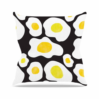 Vasare Nar Fried Eggs Pattern Pop Art Outdoor Throw Pillow Size: 18 H x 18 W x 5 D