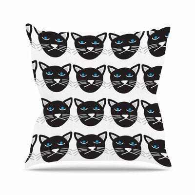 Vasare Nar Grumpy Cat Animals Outdoor Throw Pillow Size: 16 H x 16 W x 5 D