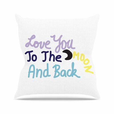 Vasare Nar Love You to the Moon and Back Vector Outdoor Throw Pillow Size: 16 H x 16 W x 5 D
