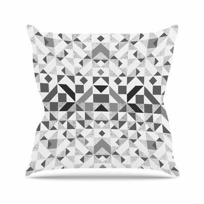 Vasare Nar Monochrome Geometric Geometric Outdoor Throw Pillow Size: 16 H x 16 W x 5 D