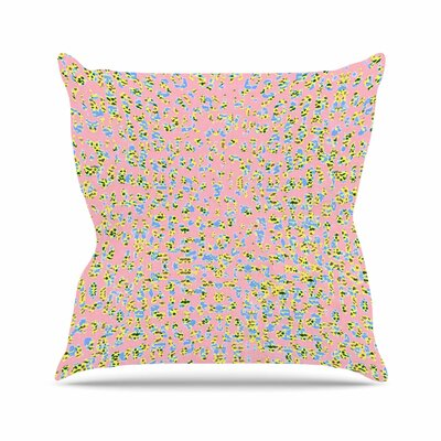 Vasare Nar Peach Lepoard Pattern Outdoor Throw Pillow Size: 18 H x 18 W x 5 D