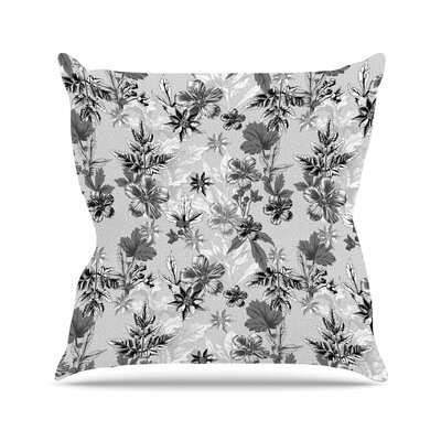 Victoria Krupp Engraving Flowers Floral Outdoor Throw Pillow Size: 16 H x 16 W x 5 D