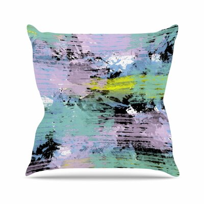 Vasare Nar Watercolor Texture Outdoor Throw Pillow Size: 18 H x 18 W x 5 D