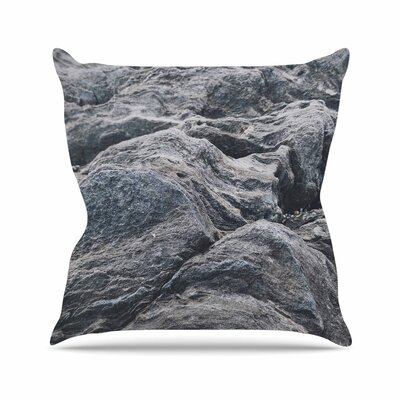Will Wild Stone Landscape Nature Outdoor Throw Pillow Size: 16