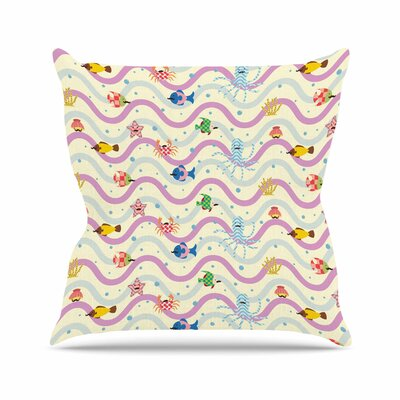 Billington Underwater World with Moustach Outdoor Throw Pillow Size: 16 H x 16 W x 5 D