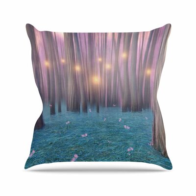 Viviana Gonzalez Feather Dance Digital Outdoor Throw Pillow Size: 16 H x 16 W x 5 D