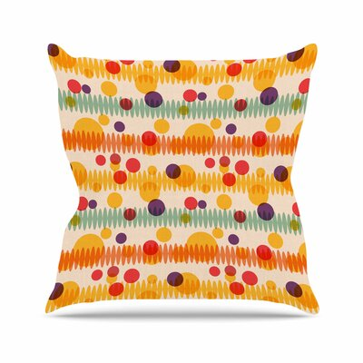 Billington Bubble Stripes Fun Geometric Outdoor Throw Pillow Size: 16 H x 16 W x 5 D