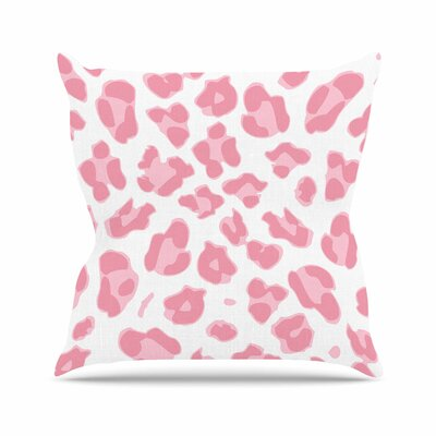 Wildlife Animal Print 2 Digital Outdoor Throw Pillow Size: 16