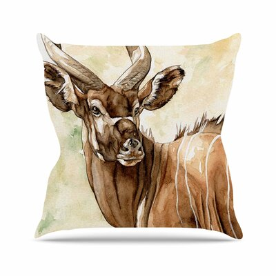 Wildlife Africa 1 Animals Outdoor Throw Pillow Size: 18 H x 18 W x 5 D