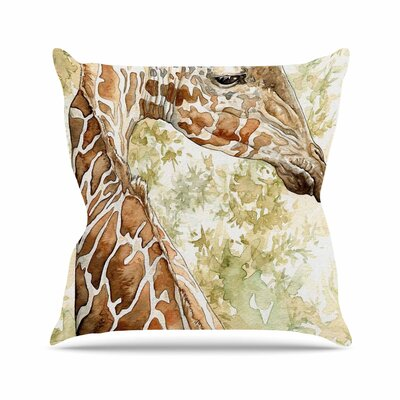 Wildlife Africa 2 Animals Outdoor Throw Pillow Size: 18 H x 18 W x 5 D