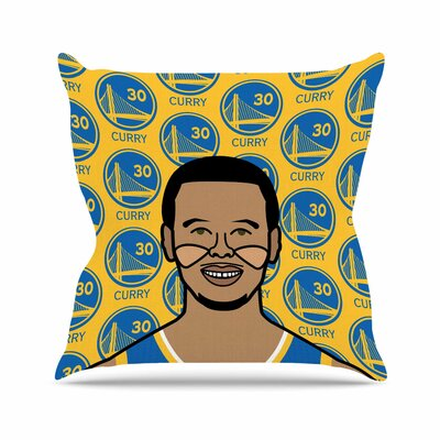 Will Wild Steph Curry Sports Outdoor Throw Pillow Size: 18 H x 18 W x 5 D
