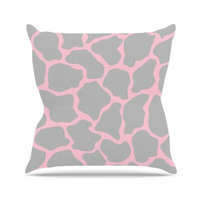Wildlife Animal Print 9 Digital Outdoor Throw Pillow Size: 16