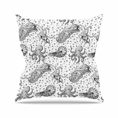 Stephanie Vaeth Cephalopods Outdoor Throw Pillow Size: 18 H x 18 W x 5 D