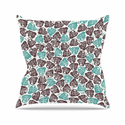 Pom Graphic Design the Barking Pug Outdoor Throw Pillow Size: 16 H x 16 W x 5 D