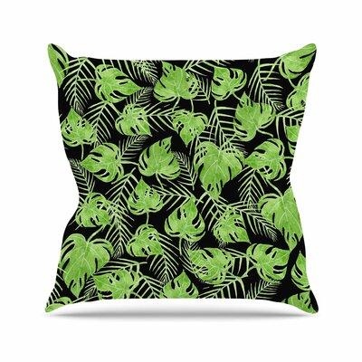 Strawberringo Leaves Outdoor Throw Pillow Size: 16 H x 16 W x 5 D