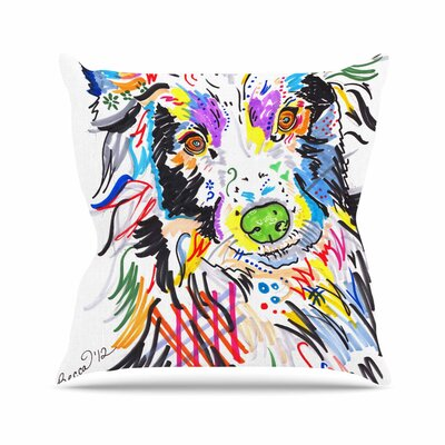 Rebecca Fisher Buzz Dog Outdoor Throw Pillow Size: 18 H x 18 W x 5 D