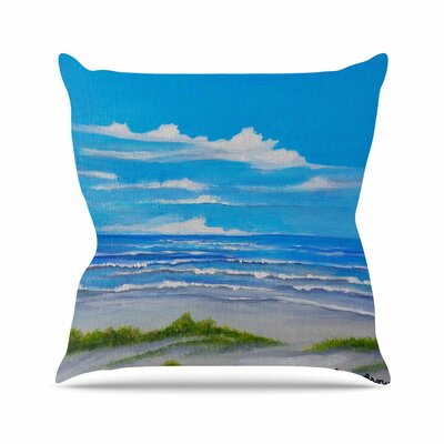 Rosie Brown Sanibel Island Coastal Painting Outdoor Throw Pillow Size: 18 H x 18 W x 5 D