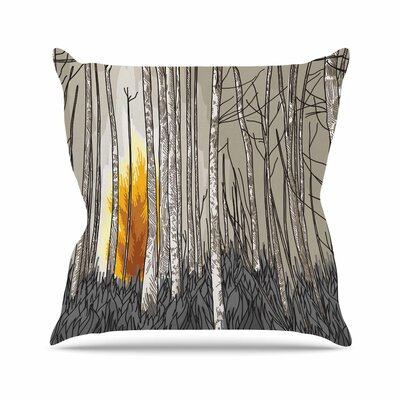 Sam Posnick Smokey Forest Fire Outdoor Throw Pillow Size: 16 H x 16 W x 5 D