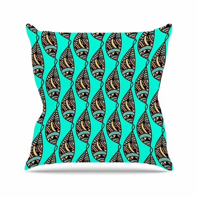 Shirlei Patricia Muniz Fisherman of Illusions Illustration Outdoor Throw Pillow Size: 18 H x 18 W x 5 D