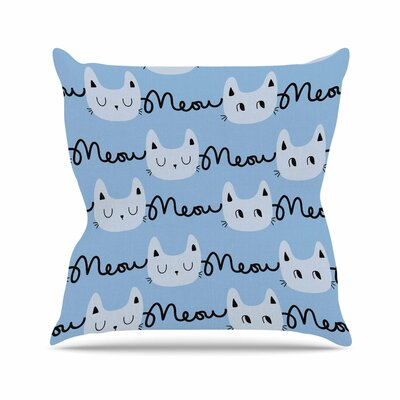 Strawberringo Meow Meow Cats Outdoor Throw Pillow Size: 18 H x 18 W x 5 D