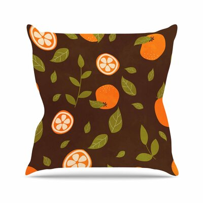 Strawberringo Pattern Abstract Food Outdoor Throw Pillow Size: 16 H x 16 W x 5 D