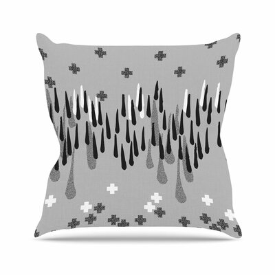 Zara Martina Masen a Touch of Memphis Gray Outdoor Throw Pillow Size: 18 H x 18 W x 5 D