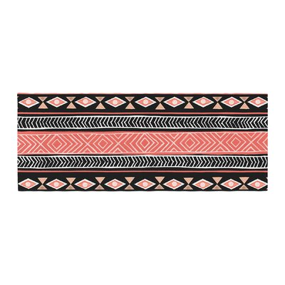 Skye Zambrana Mojave Bed Runner Color: Black/Red