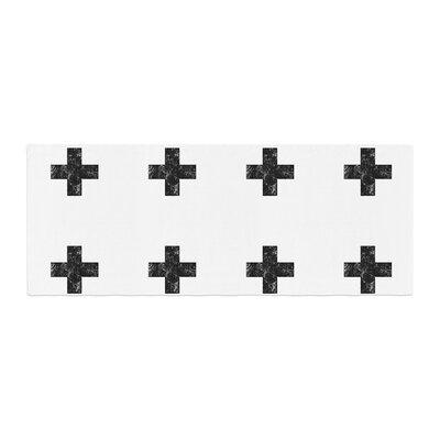 Skye Zambrana Swiss Cross Simple Dark Bed Runner Color: White