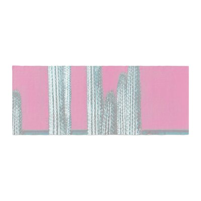 Suzanne Carter Cactus Digital Bed Runner Color: Pink/Gray