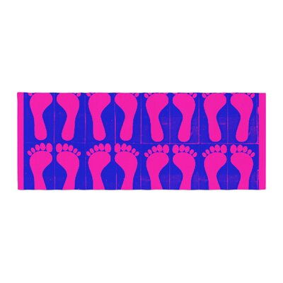 Sreetama Ray Footprints Illustration Bed Runner Color: Purple