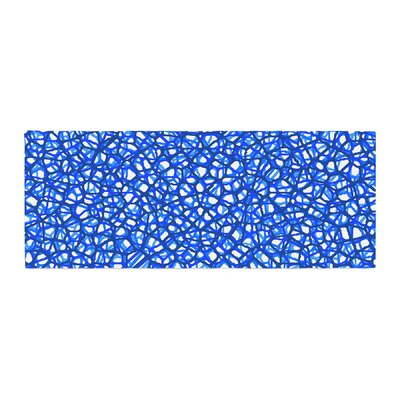 Trebam Staklo Digital Bed Runner Color: Blue/White