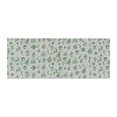 Snap Studio Miniature Christmas Bed Runner Color: Green/Gray