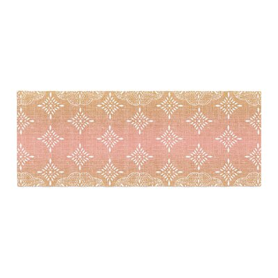 Suzie Tremel Medallion Ombre Bed Runner Color: Blush